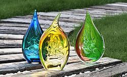 叶子系列水晶摆件