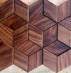 黑胡桃 不规则大气细腻 实木马赛克背景墙 原木厂家 精细MFZ-C037