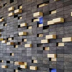 碳化木 实木马赛克背景墙 特殊定制高端 原木厂家 MFZ-S067