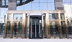 吐鲁番吐哈石油大厦两翼旋转门