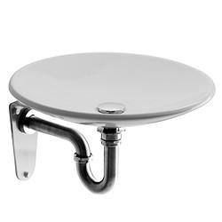 科马卫浴- Q9 圆形515支架式陶瓷洗面器(面盆) 1022032