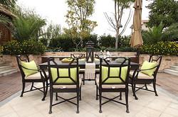 阿帝比斯桌椅组合1桌6椅80A