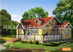 港龙木单层木屋木结构别墅HB1010