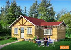 港龙木单层木屋木结构别墅HB1007