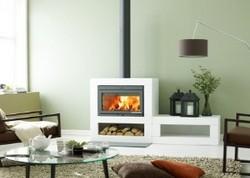 水平门 嵌入式燃木壁炉