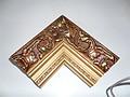 迪佳尔软包边框 铜色花纹