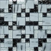 金帝 黑白混拼玻璃马赛克